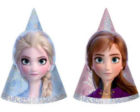 Mini Prismatic Frozen 2 Party Hats, 8-pk
