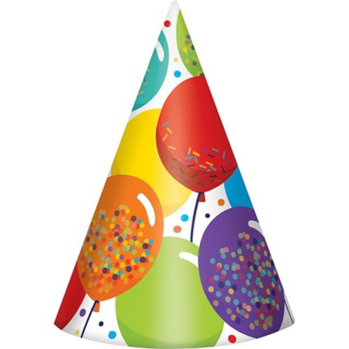 Balloon Birthday Celebration Party Hats, 24-pk