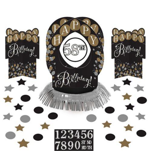 Décorations de table d'anniversaire Célébration étincelante, paq. 51 Image de l'article
