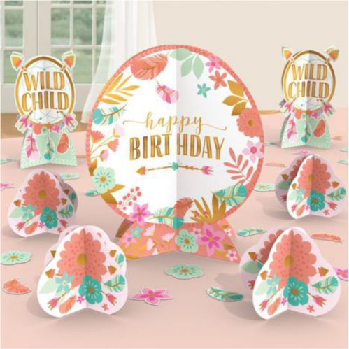 Boho Girl Table Decorating Kit, 8-pc Product image
