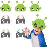 Blast Off Birthday Masks, 8-pk