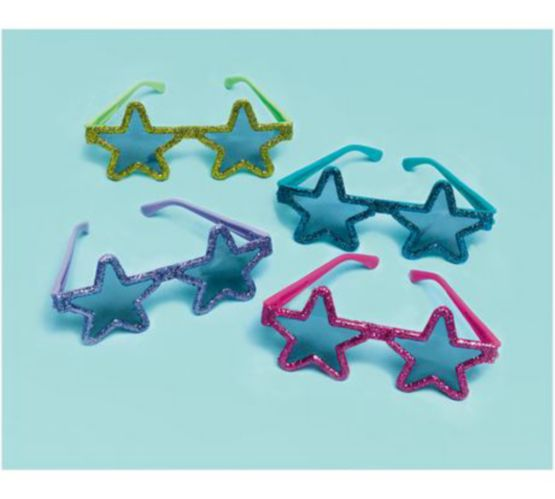 Glitter Star Sunglasses, 12-pk