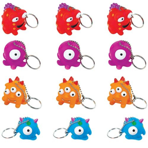 Monster Keychains, 12-pk