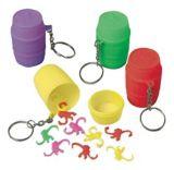 Porte-clés jouets singes, paq. 12 | Amscannull