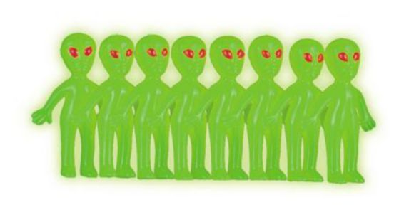 Extraterrestres qui brillent dans le noir, paq. 12