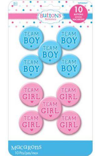 Macarons pour dévoilement du sexe fille ou garçon, paq. 10
