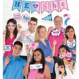 He or She Gender Reveal Photo Booth Kit, 21-pc | Amscannull