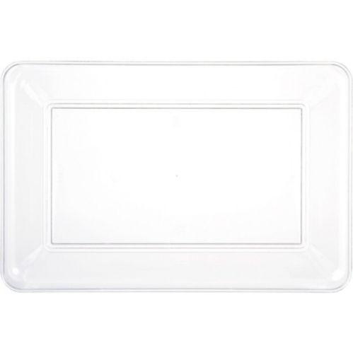 Plateau rectangulaire en plastique transparent