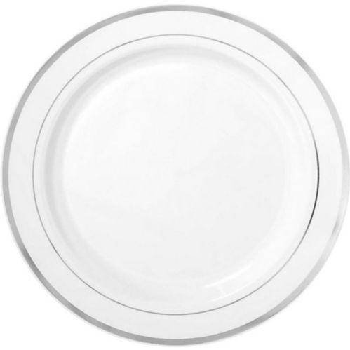 Assiettes à buffet à bordure de première qualité, paq. 10