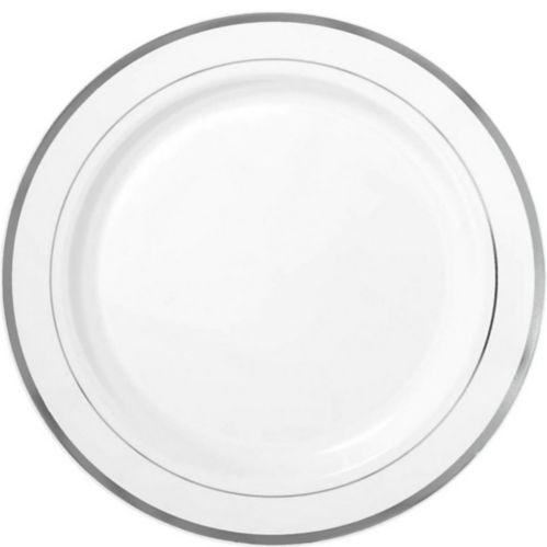 Trimmed Premium Plastic Dinner Plates, 10-ct