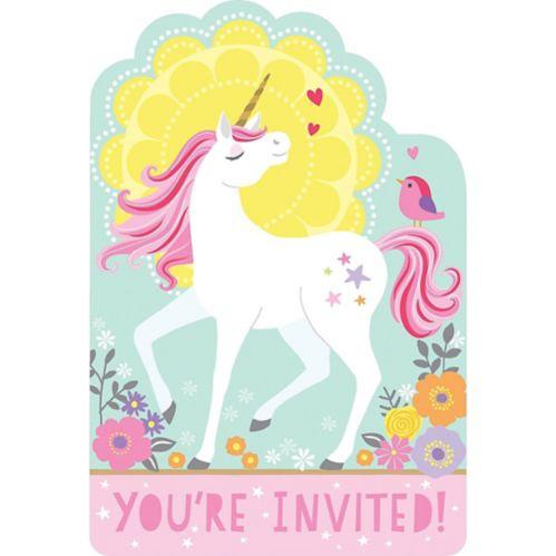 Magical Unicorn Invitations, 8-pk Product image