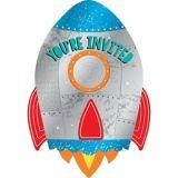 Invitations Décollage de fusée, paq. 8 | Amscannull