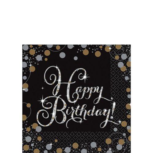 Sparkling Celebration Happy Birthday Beverage Napkins, 16-pk