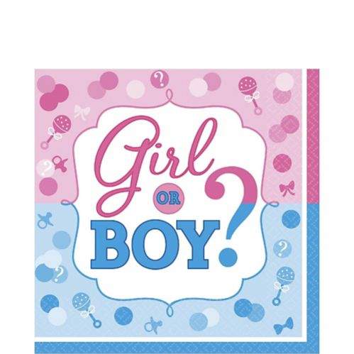 Girl or Boy Gender Reveal Lunch Napkins, 16-pk Product image