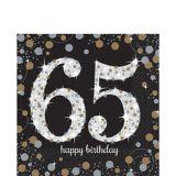 Sparkling Celebration 65th Birthday Lunch Napkins, 16-pk