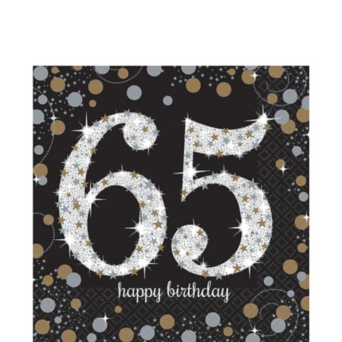 Sparkling Celebration 65th Birthday Lunch Napkins, 16-pk Product image