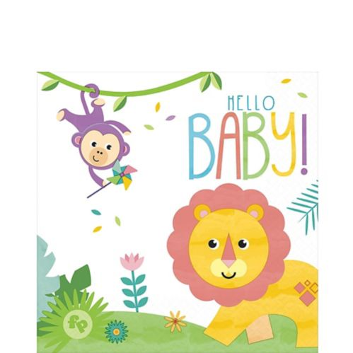 Fisher-Price Hello Baby Lunch Napkins, 16-pk