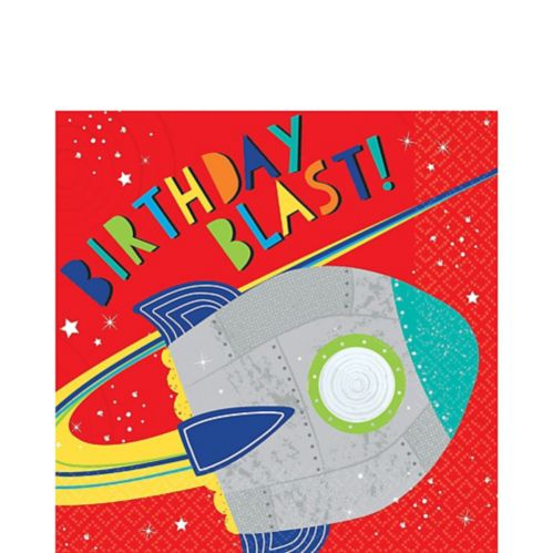 Blast Off Birthday Lunch Napkins, 16-pk Product image