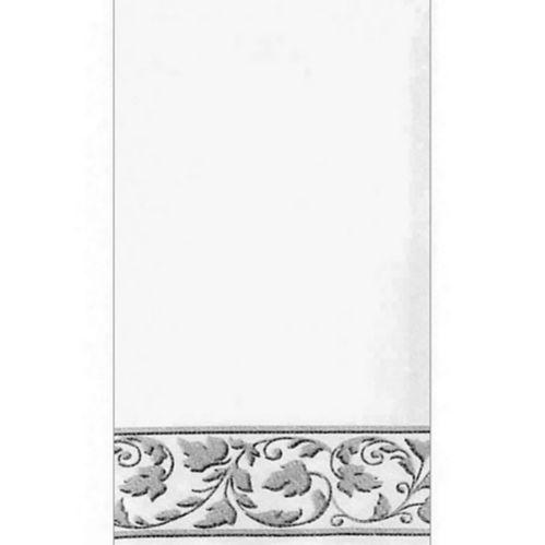 Serviettes de qualité supérieure blanches avec motif argenté, paq. 24 Image de l'article