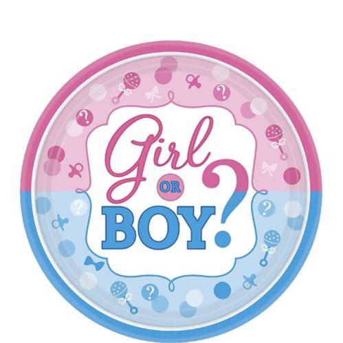 Girl or Boy Gender Reveal Dessert Plates, 8-pk