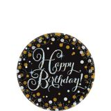 Sparkling Celebration Prismatic Birthday Dessert Plates, 8-pk