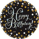 Assiettes à repas scintillantes iridescentes pour fête d'anniversaire, paq. 8 | Amscannull