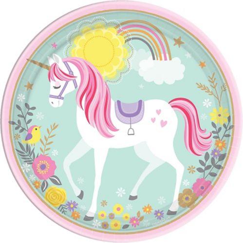 Magical Unicorn Lunch Plates, 8-pk