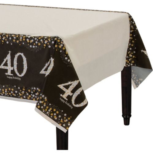 Sparkling Celebration 40th Birthday Table Cover
