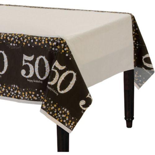 Nappe de fête scintillante 50eanniversaire