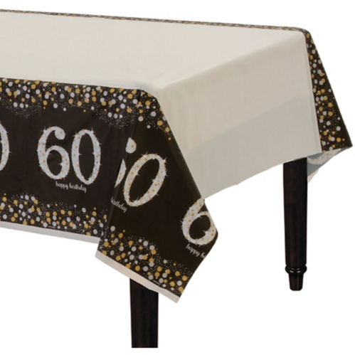Sparkling Celebration 60th Birthday Table Cover