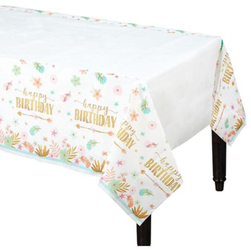 Boho Girl Paper Table Cover, 54-in x 96-in Product image