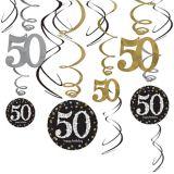 Sparkling Celebration 50th Birthday Swirl Decorations, 12-pk | Amscannull