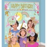 Magical Unicorn Scene Setter with Photo Booth Props   Amscannull