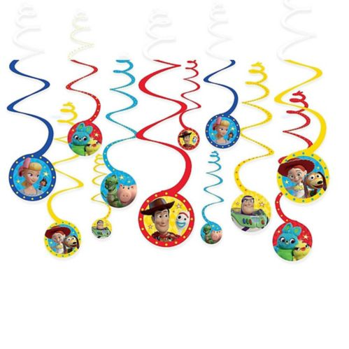 Toy Story 4 Swirl Decorations, 12-pk