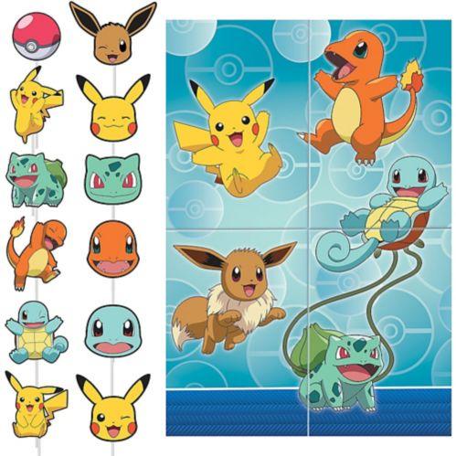 Décor mural Pokémon classique avec accessoires Image de l'article