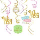 Décorations spiralées d'anniversaire confettis amusants, paq./12 | Amscannull