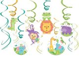 Fisher-Price Hello Baby Swirl Decorations, 12-pc | Amscannull