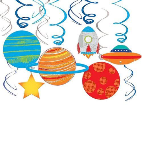 Blast Off Swirl Decorations, 12-pc