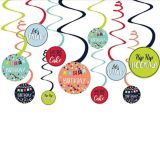 A Reason to Celebrate Swirl Decorations, 12-pc | Amscannull