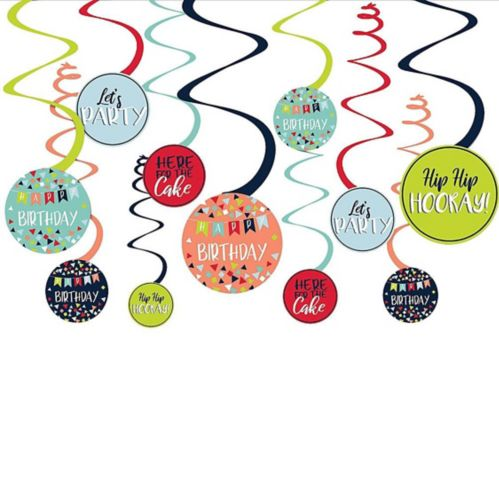 A Reason to Celebrate Swirl Decorations, 12-pc