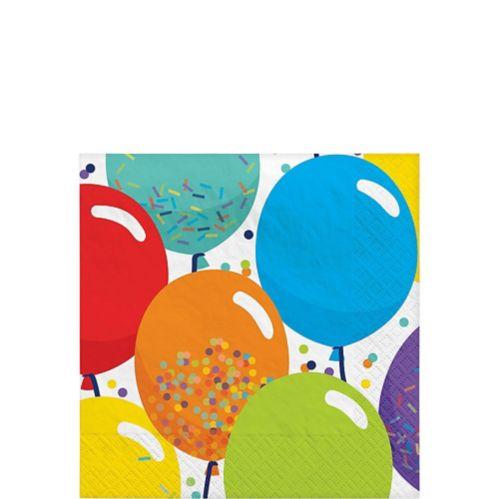 Balloon Birthday Celebration Beverage Napkins, 125-pk