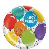 Balloon Birthday Celebration Dessert Plates, 7-in, 60-pk | Amscannull