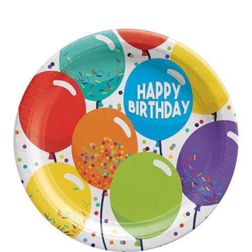 Balloon Birthday Celebration Dessert Plates, 7-in, 60-pk Product image