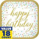 Confetti Fun Birthday Dinner Plates, 18-pk | Amscannull