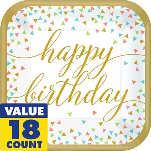 Confetti Fun Birthday Dinner Plates, 18-pk Product image