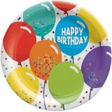 Balloon Birthday Celebration Lunch Plates, 9-in, 60-pk | Amscannull