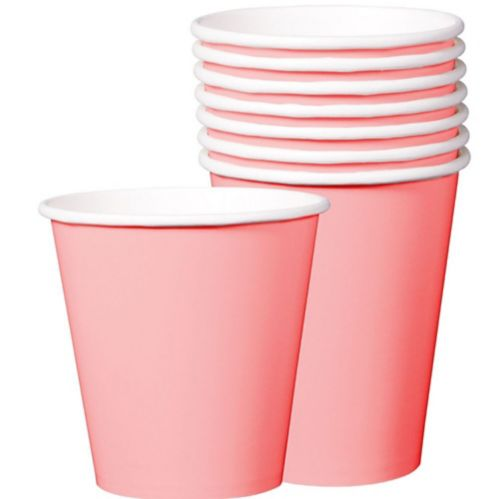 Disposable Paper Cups, 9-oz, 8-pk
