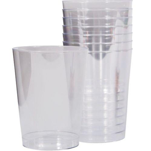 Disposable Plastic Cups, 10-oz, 8-pk