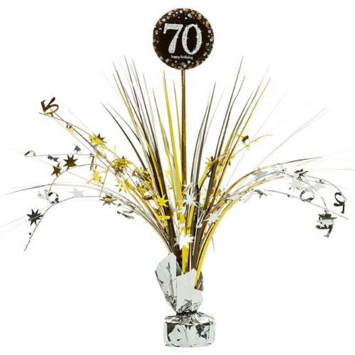 70th Birthday Spray Centerpiece - Sparkling Celebration Product image