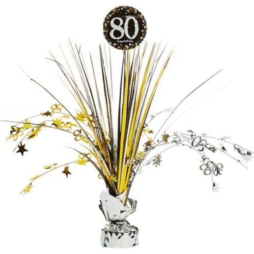 80th Birthday Spray Centerpiece - Sparkling Celebration